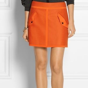 Rag & Bone Orange Wool Blend Mini Skirt Size 8